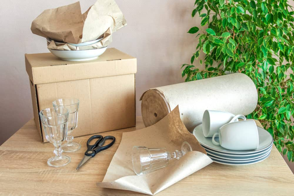 plates mugs and glassware ready to be packed e1601565640927 How to Pack Dishes, Plates, and Glassware for Moving
